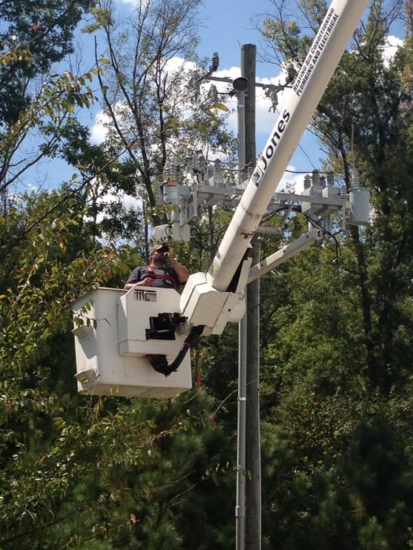 High voltage repairs at JCIM in McCalla 2