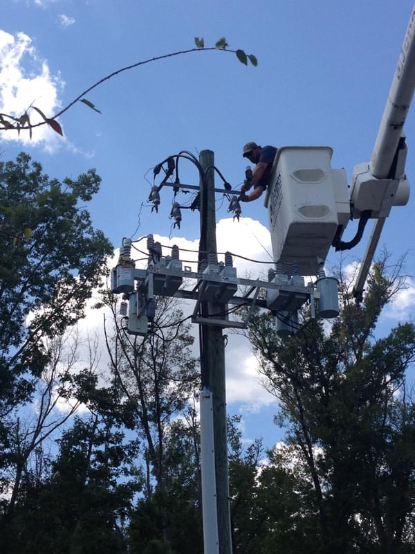 High voltage repairs at JCIM in McCalla