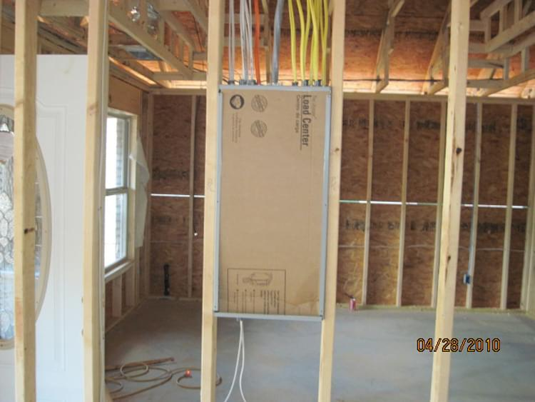 New construction electrical residential at Legacy Park
